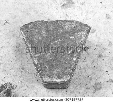Bricks laid on the cement floor - stock photo
