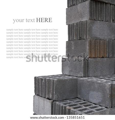 bricks material - stock photo