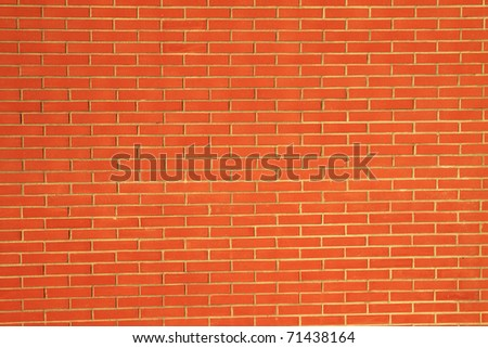 Bricks wall background and texture in landscape view