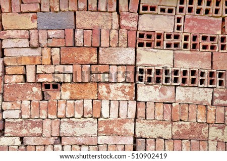 Bricks wall texture bricked background.