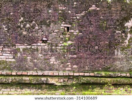 brickwall empty wall stone texture old background - stock photo