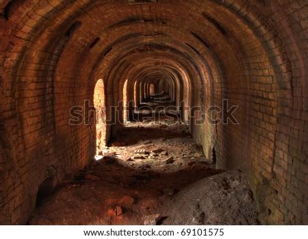 Brickyard (inside stove) - stock photo