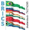 BRICS concept isolated on white - stock photo