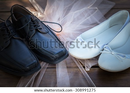 Bridal and groom shoes