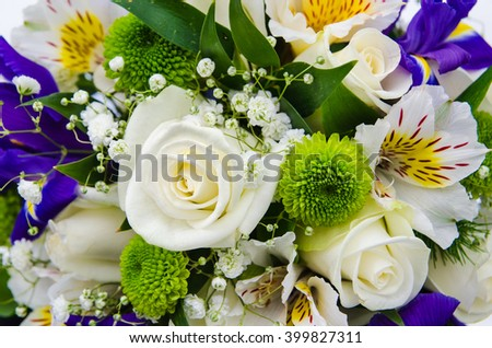 bridal bouquet as a background - stock photo
