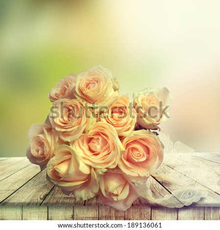 Bridal Bouquet of roses. - stock photo