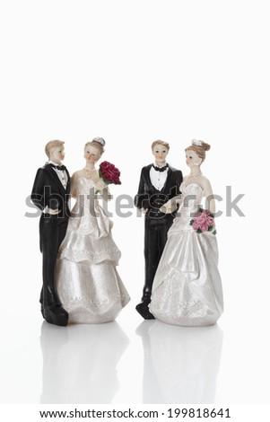 Bridal couple figurines - stock photo