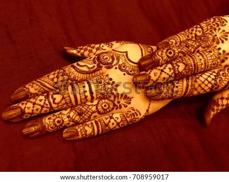 Mehndi Hands Powerpoint : Bridal mehndi henna tattoo on women stock photo royalty free