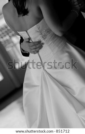 Bride and groom dance - stock photo
