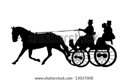 Horse And Carriage Logo Horse And Carriage Stock