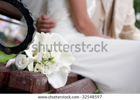 bride bouquet - stock photo