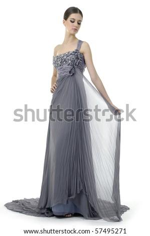 bride dressed in beauty dress - stock photo