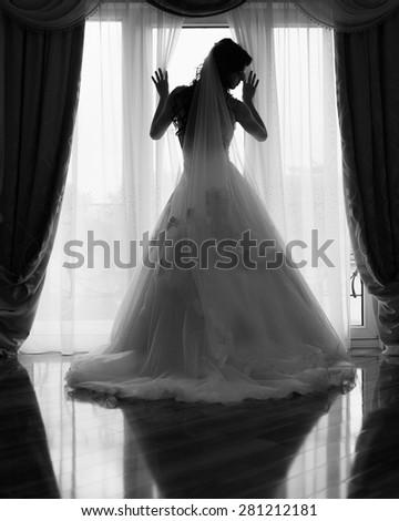 Joy victory beautiful bride
