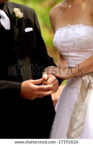 Bride & groom - stock photo