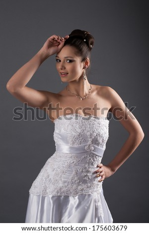 Bride in white dress