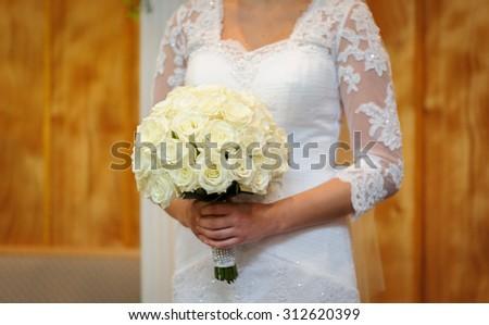 Bride it the ceremony - stock photo