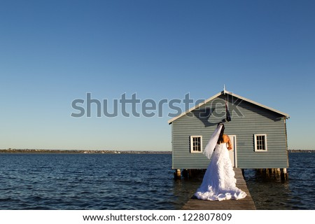 Bride on water