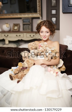 bride portrait - stock photo