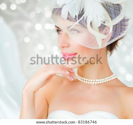 Bride portrait.Wedding dress - stock photo