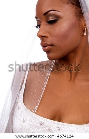 Bride's profile. - stock photo