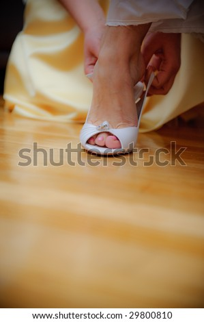 Bride's shoe - stock photo
