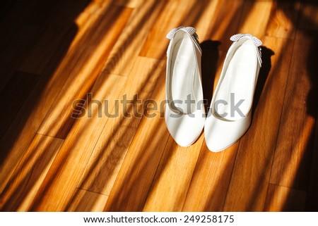 bride shoes - stock photo