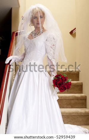 Bride Striptease Series #1 - stock photo