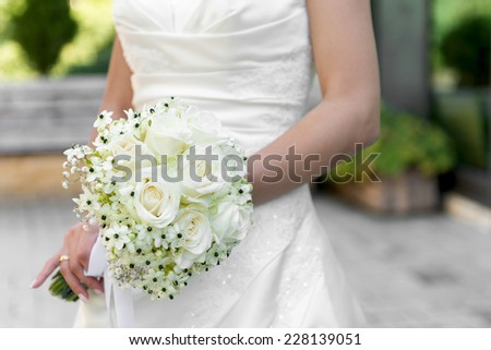 Bride with a wedding bouqet