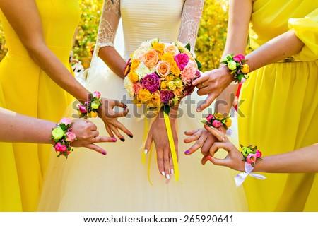 bridesmaid    - stock photo