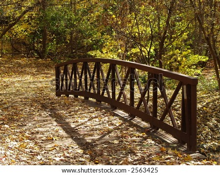 bridg in the fall - stock photo