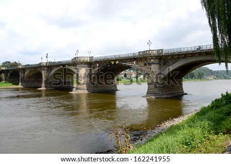 Bridge across Elbe