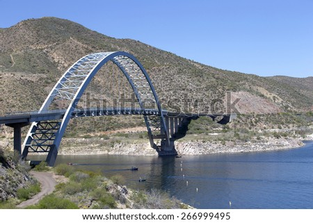 Bridge across Salt River, Arizona, USA - stock photo
