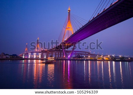 Bridge across the River in Bangkok thailand - stock photo