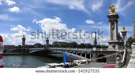 Bridge Alexandre III in  Paris France