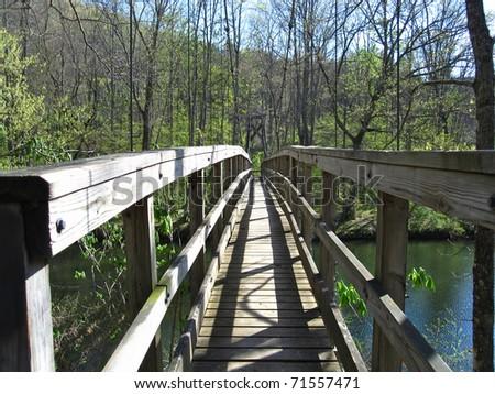 Bridge along the Appalachian Trail - stock photo