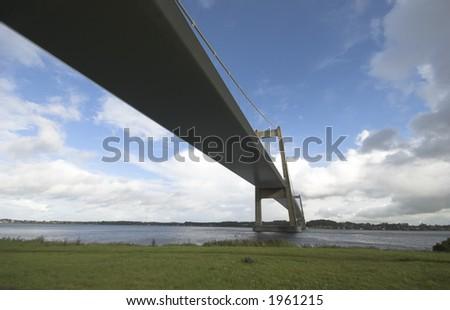 Bridge and Autumn - stock photo