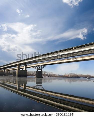 Bridge and river - stock photo