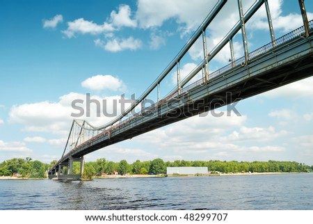 bridge and river in sunny day