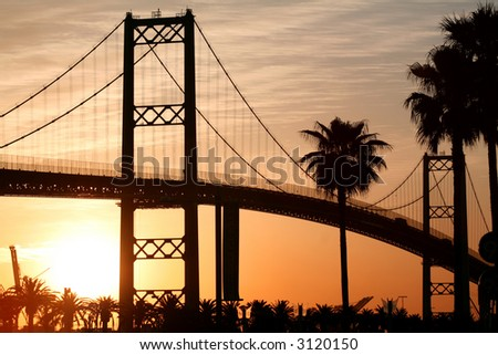 Bridge at Sunrise - stock photo