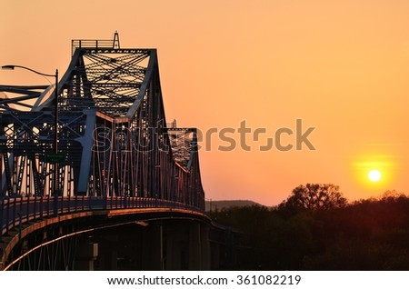 Bridge at Sunset in La Crosse, Wisconsin