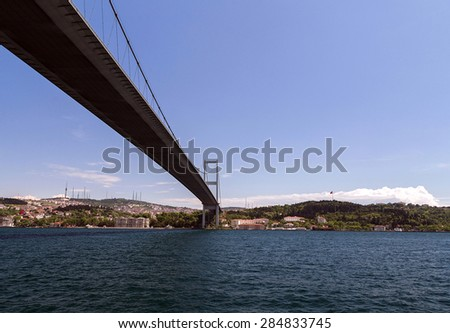 bridge Bosphorus connecting the european and asian Istanbul Turkey