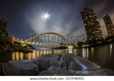 Bridge By Moonlight - stock photo