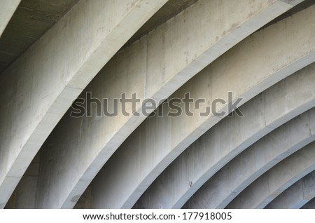 Bridge Concrete Design Ceiling - stock photo