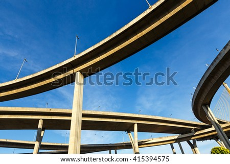 bridge concrete ring on highway