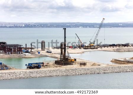 bridge construction in Kerch, Crimea