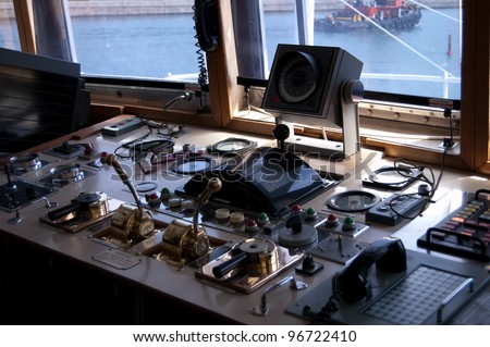 Bridge Controls - stock photo