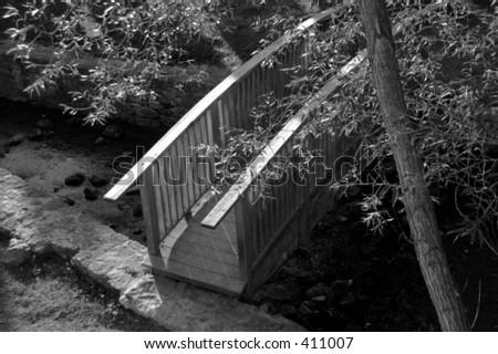 bridge crossing in Rockwood park - stock photo