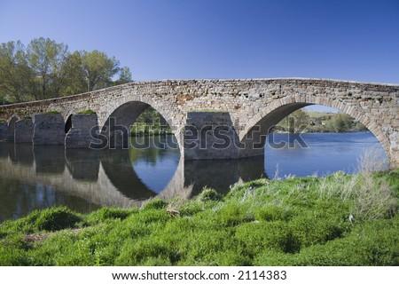 bridge,El barco de Avila,Spain - stock photo