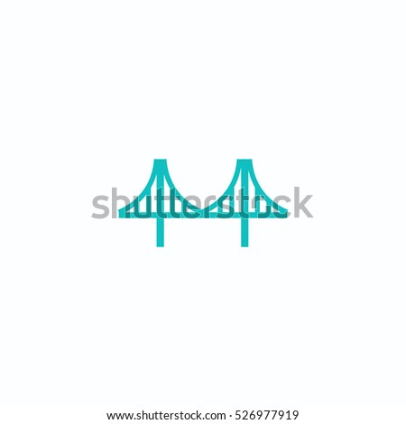 bridge icon, on white background