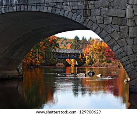 Bridge in a bridge - stock photo
